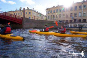 Каякинг по рекам и каналам в Санкт-Петербург