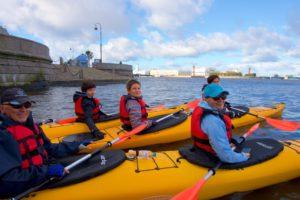 Финский залив прогулка на морских каяках